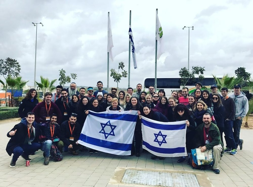 The recent Birthright trip led by Eliana Rudee. Credit: Courtesy of Eliana Rudee.