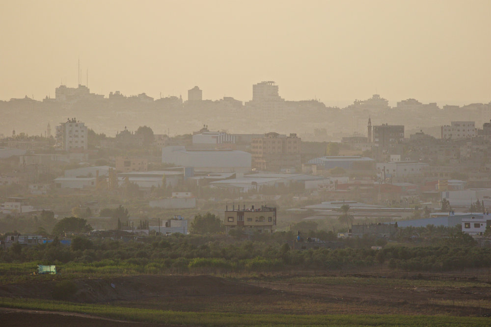 The Gaza strip from an observation point close to the Nir Am Kibbutz in southern Israel. Credit: Doron Horowitz/Flash90.