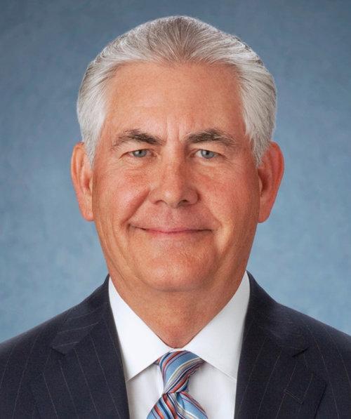 Secretary of State-designate Rex Tillerson. Credit: ExxonMobil via Wikimedia Commons.