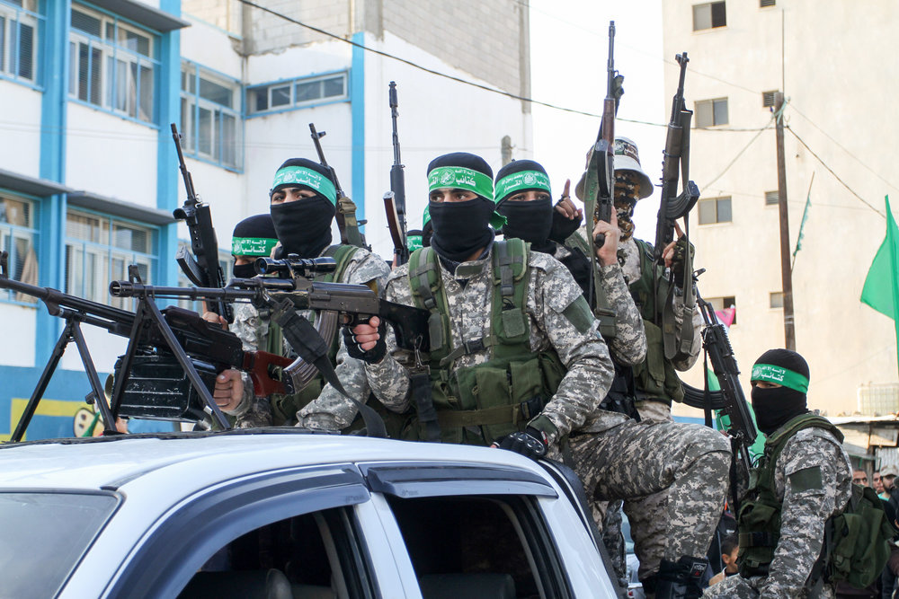 Hamas terrorists take part in a rally in Gaza that marked the Palestinian terror group's 29th anniversary Dec. 16, 2016. Credit: Abed Rahim Khatib/Flash90.