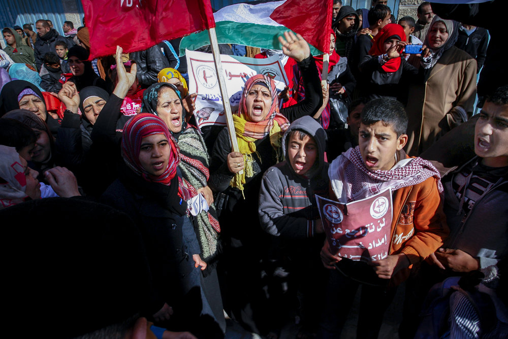 Palestinians protest against a previous energy crisis in Gaza Jan. 12, 2015. Credit: Abed Rahim Khatib/Flash90.