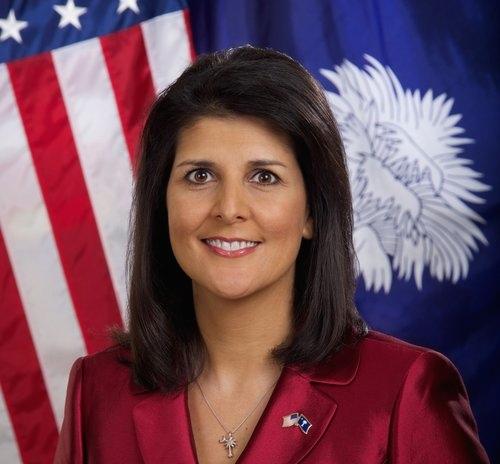South Carolina Governor Nikki Haley, President-elect Donald Trump's choice for ambassador to the United Nations. Credit: South Carolina Governor's Office/Sam Holland.