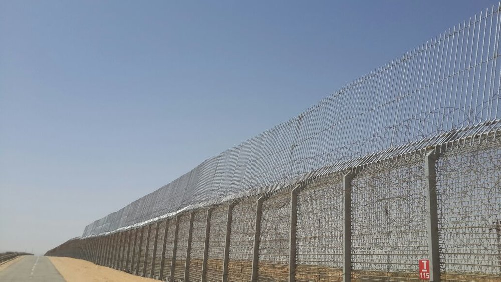 Israel raised its electronic border fence at the Israeli-Egyptian border by 10 feet to continue to deter illegal immigration. Credit: Israeli Ministry of Defense Fence Administration.
