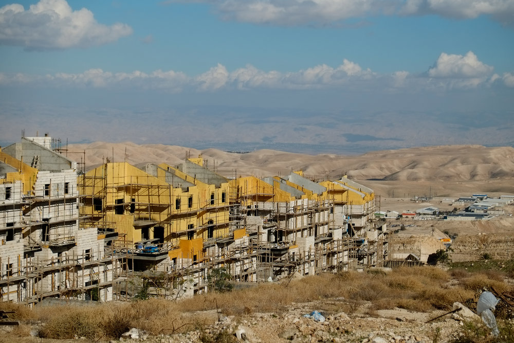 Construction of the Israeli settlement of Ma'ale Adumin in Judea and Samaria earlier this month. Credit: Yaniv Nadav/Flash90.