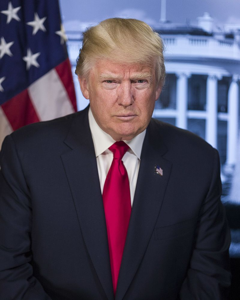 President Donald Trump. Credit: The White House.