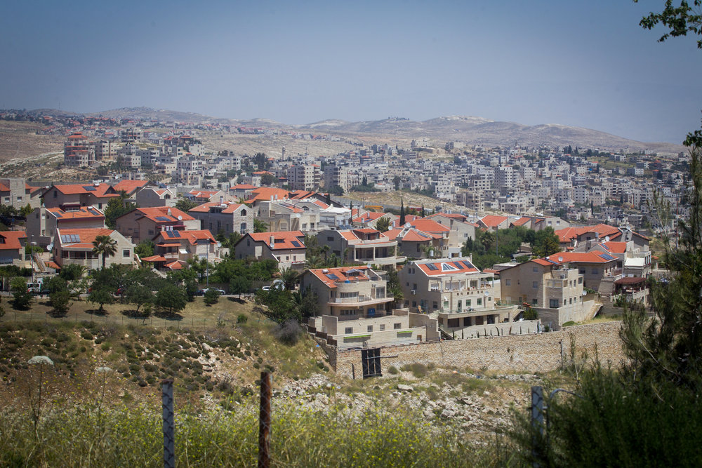 "A view of the Jerusalem neighborhood of Pisgat Ze'ev. Such Jewish neighborhoods are usually referred to as being located in ""east"" Jerusalem, yet they are also in the city's northern and southern sections, with Pisgat Ze'ev situated in north Jerusalem. Credit: Miriam Alster/Flash90."