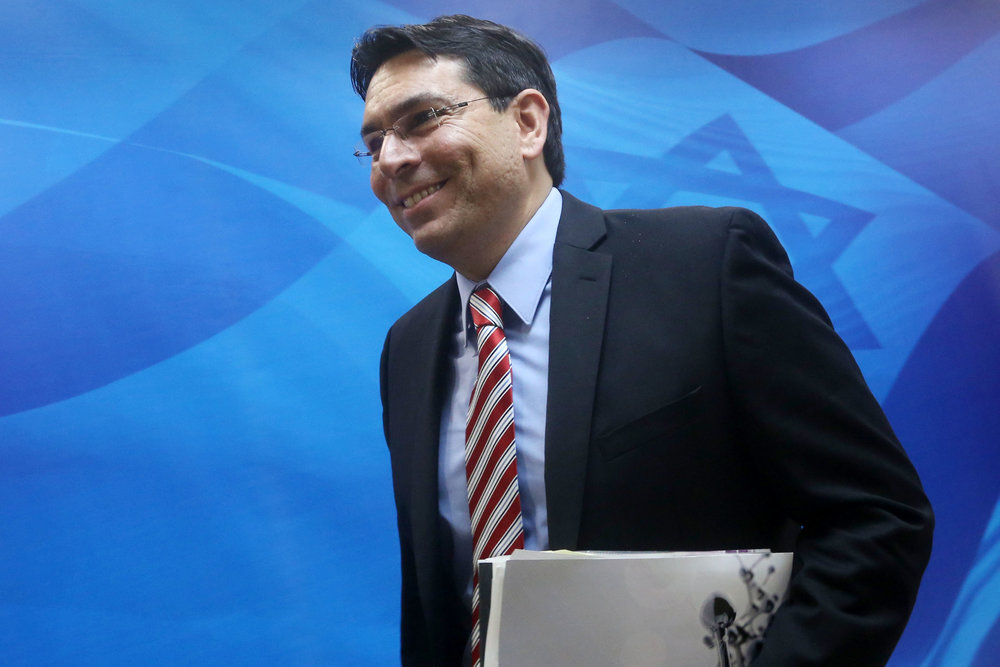 "Israeli Ambassador to the U.N. Danny Danon (pictured) called on the international community to respond to Iran's latest ""aggression."" Credit: Marc Israel Sellem/POOL/Flash90."