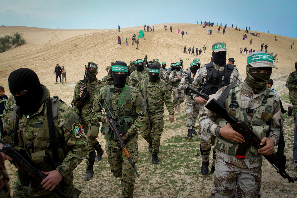 "Members of the Ezzedine al-Qassam Brigades, the ""military wing"" of Hamas, in the Gaza Strip Jan. 31. Credit: Abed Rahim Khatib/Flash90."