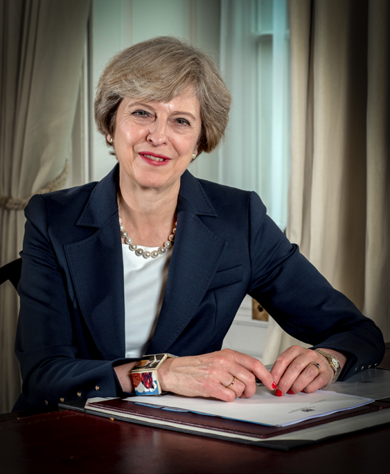 British Prime Minister Theresa May. Credit: Controller of Her Majesty's Stationary Office.