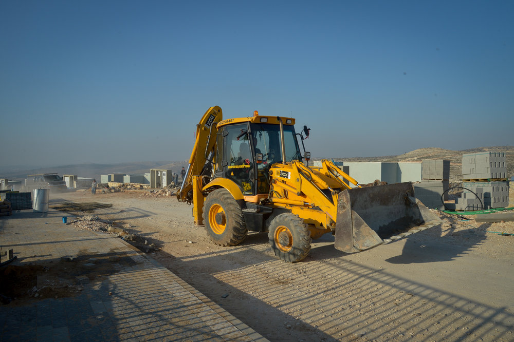 Construction of new buildings in the Israeli settlement of Na'ale Feb. 8, 2017. Credit: Flash90.