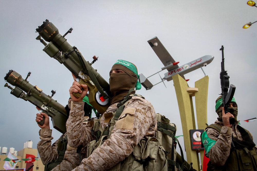 Hamas terrorists in the southern Gaza Strip town of Rafah Jan. 31, 2017. Credit: Abed Rahim Khatib/Flash90.