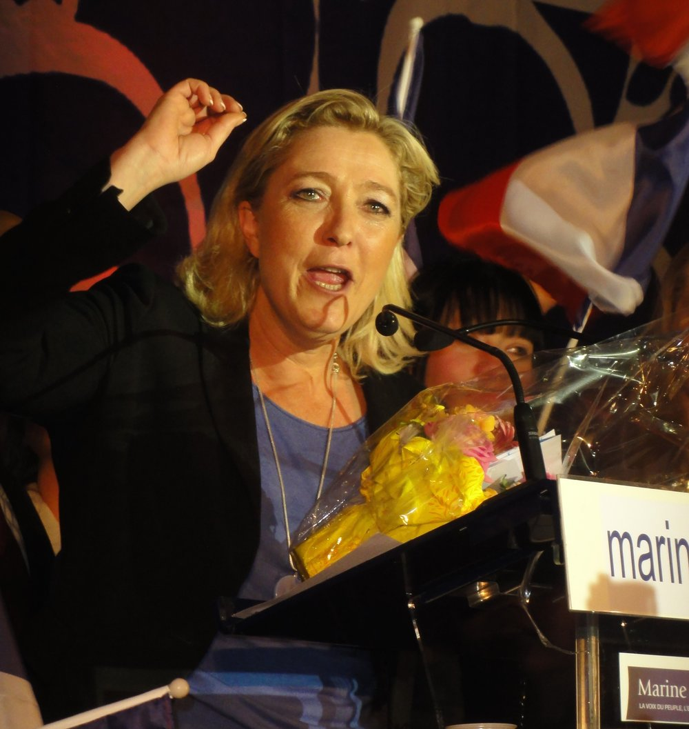 French presidential candidate Marine Le Pen. Credit: Jannick Jeremy via Wikimedia Commons.