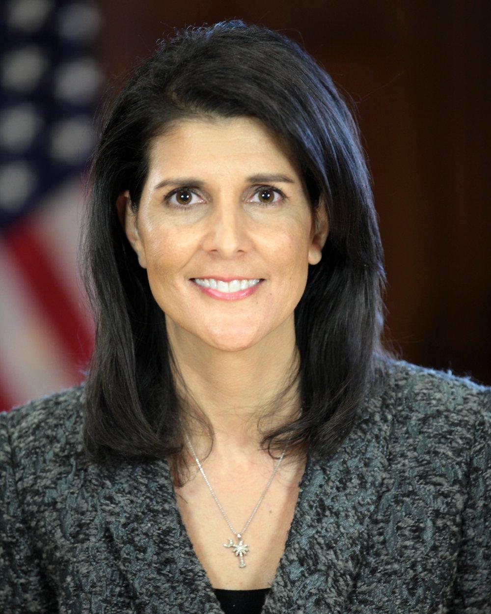U.S. Ambassador to the U.N. Nikki Haley. Credit: Wikipedia Commons.