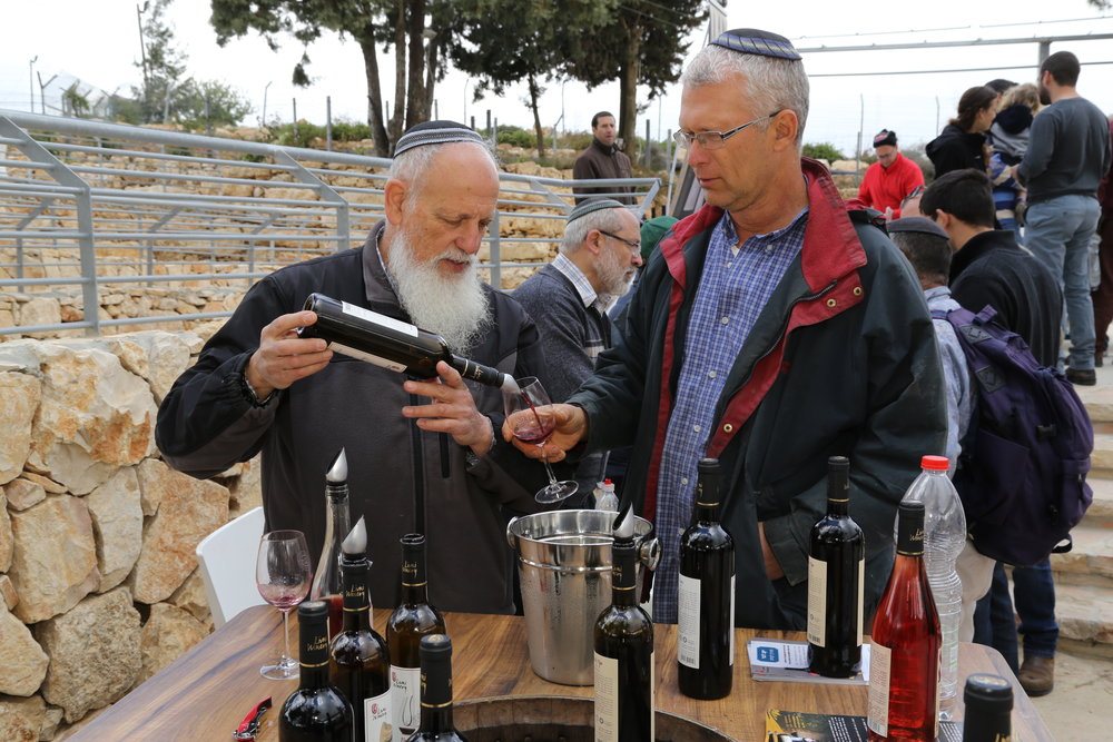 A wine festival at the Gush Etzion Winery in Israel on March 22, 2015, ahead of Passover. Credit: Gershon Elinson/Flash90.