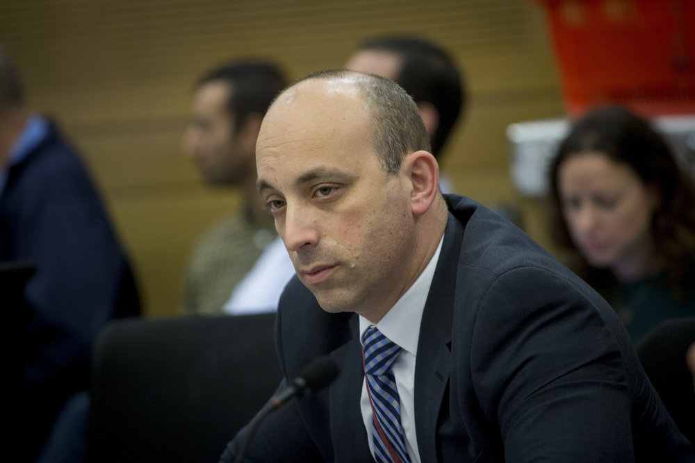 Jonathan Greenblatt, CEO of the Anti-Defamation League, at an American Jewry conference at the Israeli Knesset Dec. 5, 2016. Credit: Miriam Alster/FLASH90.