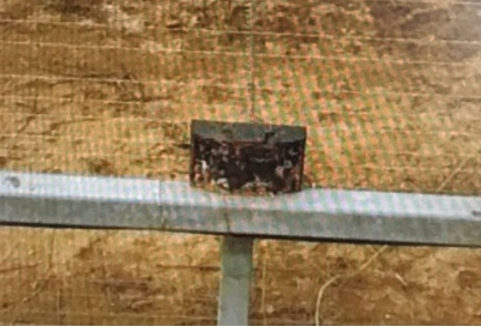 One of the explosive devices found at the Israel-Gaza Strip border fence Tuesday. Credit: IDF Spokesperson's Unit.