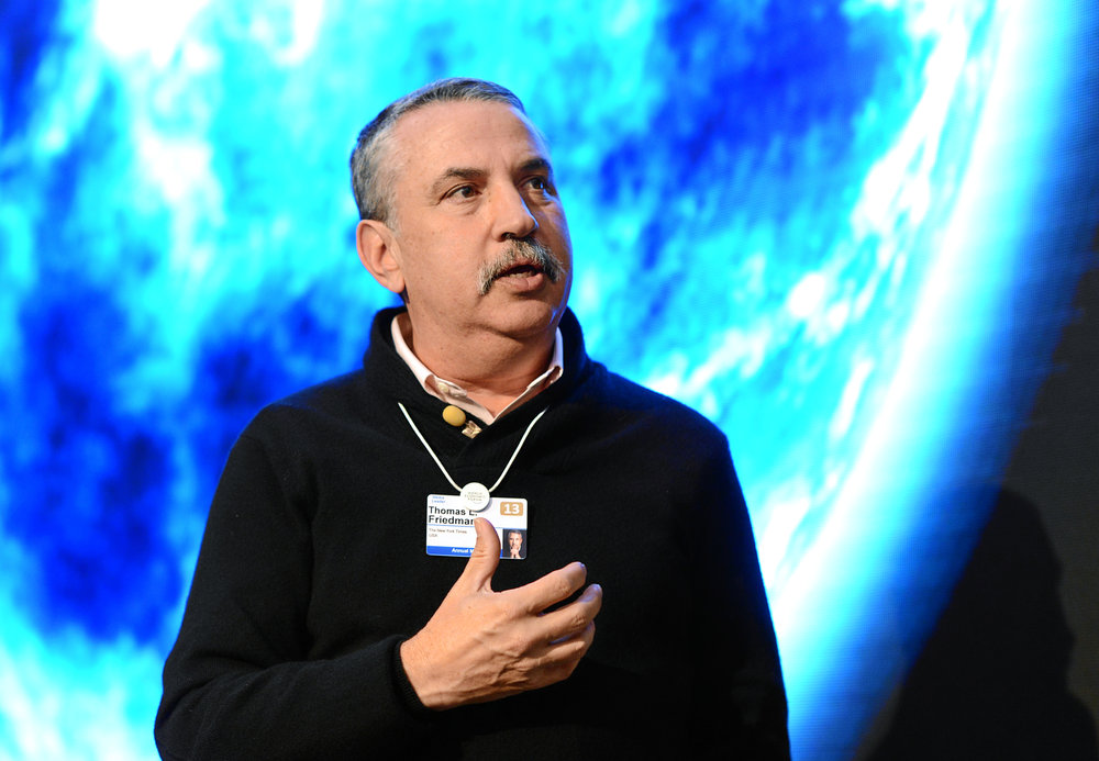 Thomas Friedman. Credit: World Economic Forum.