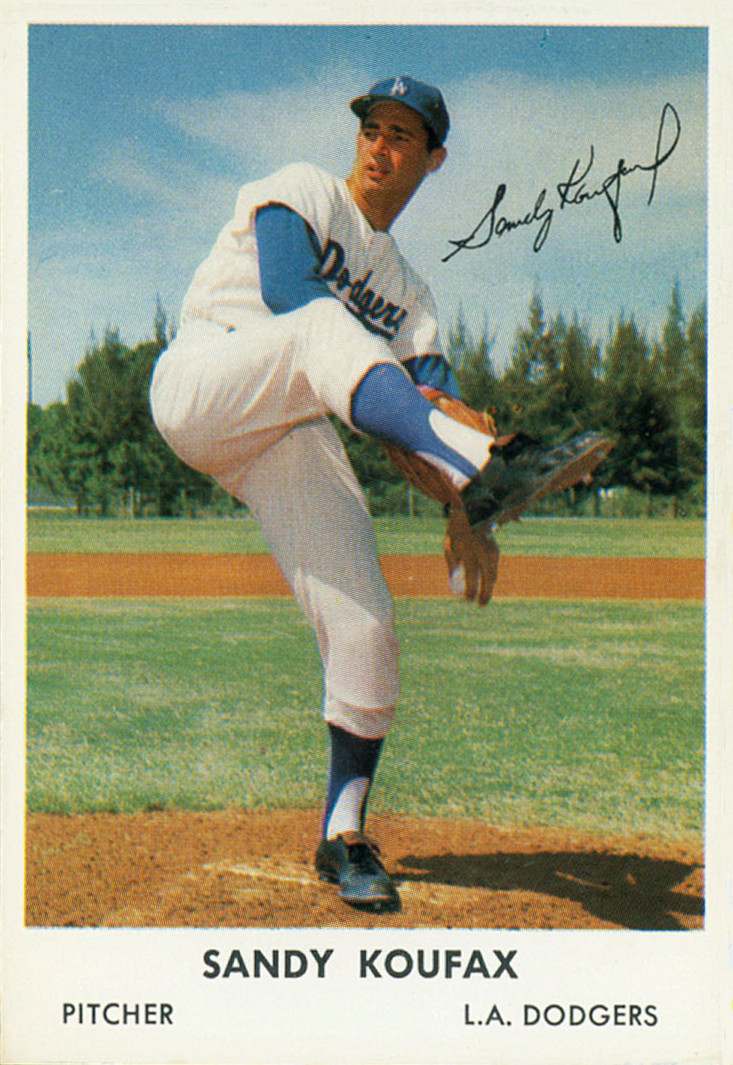 A Sandy Koufax baseball card. Credit: Bell Brand via Wikimedia Commons.