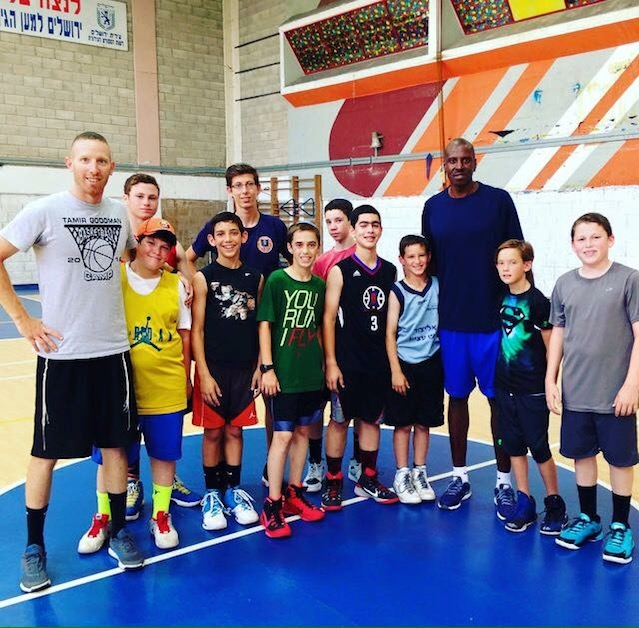 Tamir Goodman (at left) with his summer campers in Jerusalem. Credit: Courtesy of Tamir Goodman.