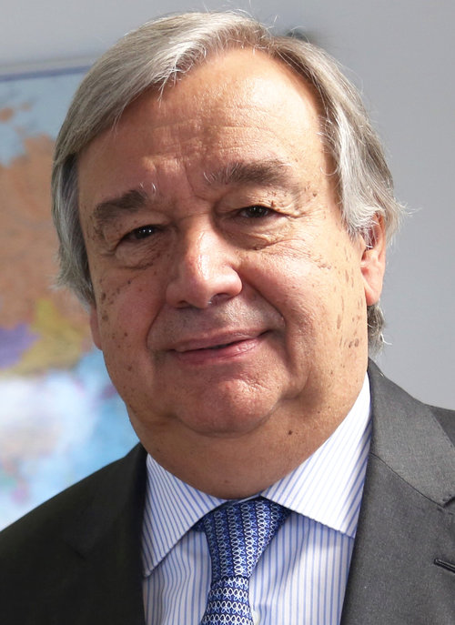 United Nations Secretary-General Antonio Guterres. Credit: U.K. Department for International Development via Wikimedia Commons.