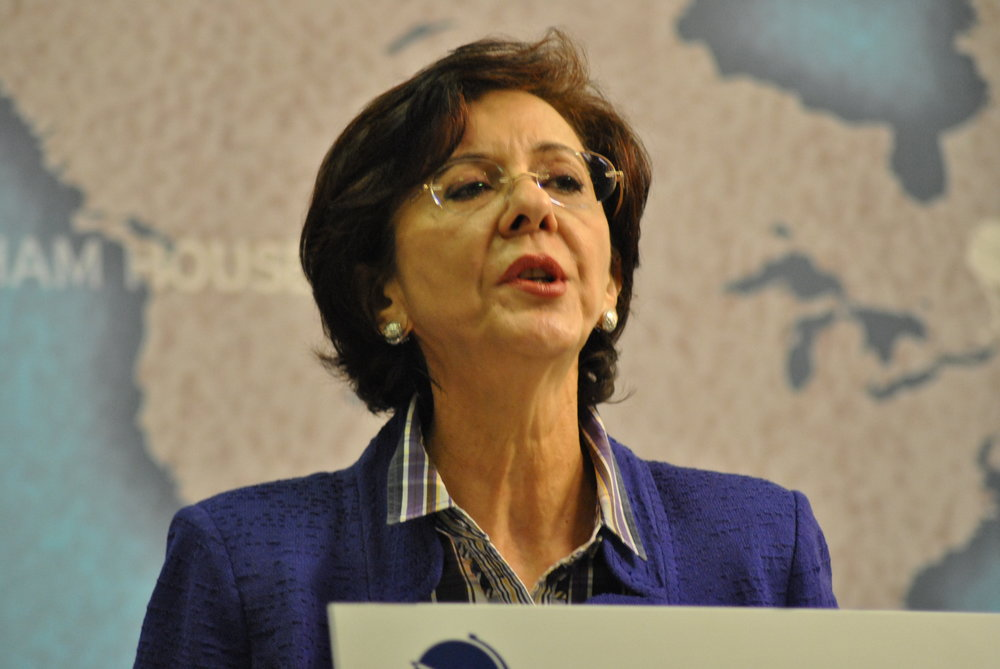Resigned United Nations official Rima Khalaf. Credit: Chatham House via Wikimedia Commons.