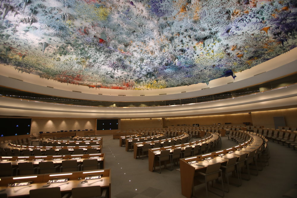 The U.N. Human Rights Council meeting room in Geneva. Credit: Ludovic Courtès via Wikimedia Commons.