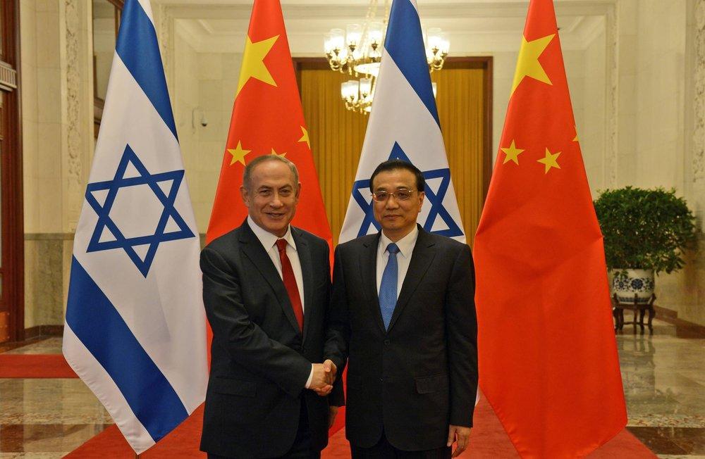 Israeli Prime Minister Benjamin Netanyahu meets with Chinese Prime Minister Li Keqiang. Credit: Haim Zach/GPO.