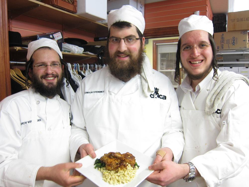 Several of Chef Avram Wiseman's former students. Credit: Courtesy of Chef Avram Wiseman.