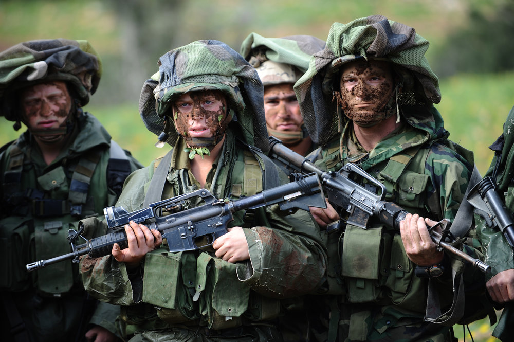 Israeli soldiers are pictured during a camouflage training course, learning warfare capabilities in complex, forested areas. Credit: Israel Defense Forces.