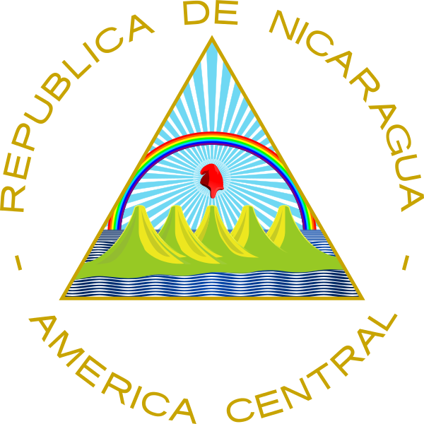 The coat of arms of Nicaragua. Credit: Wikimedia Commons.