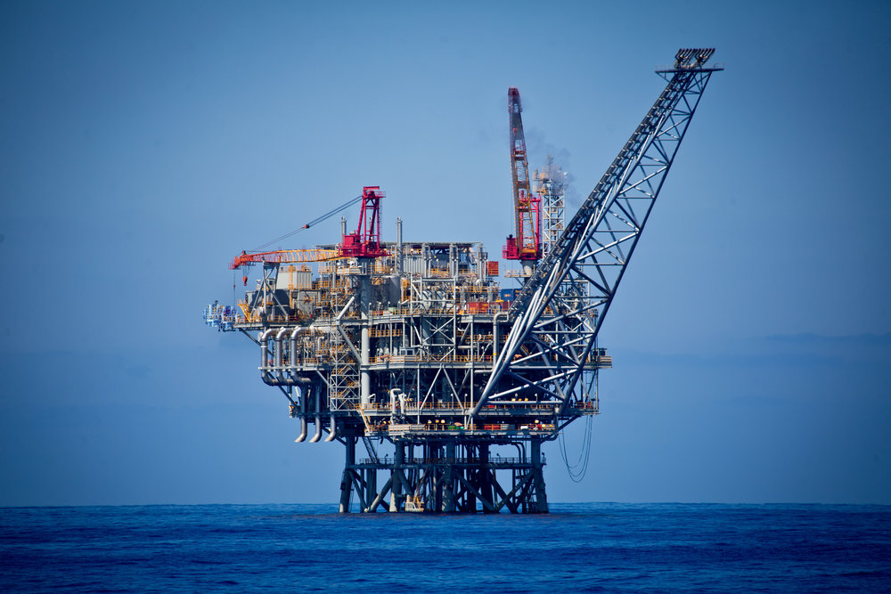 An offshore rig in Israel's Tamar gas field, near the coast of Ashkelon. Credit: Moshe Shai/Flash90.