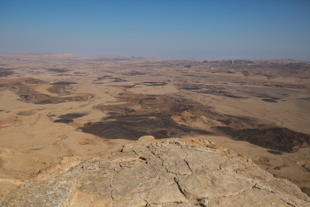 A lookout point over the Ramon Crater in southern Israel March 3, 2017. Credit: Hadas Parush/Flash90.