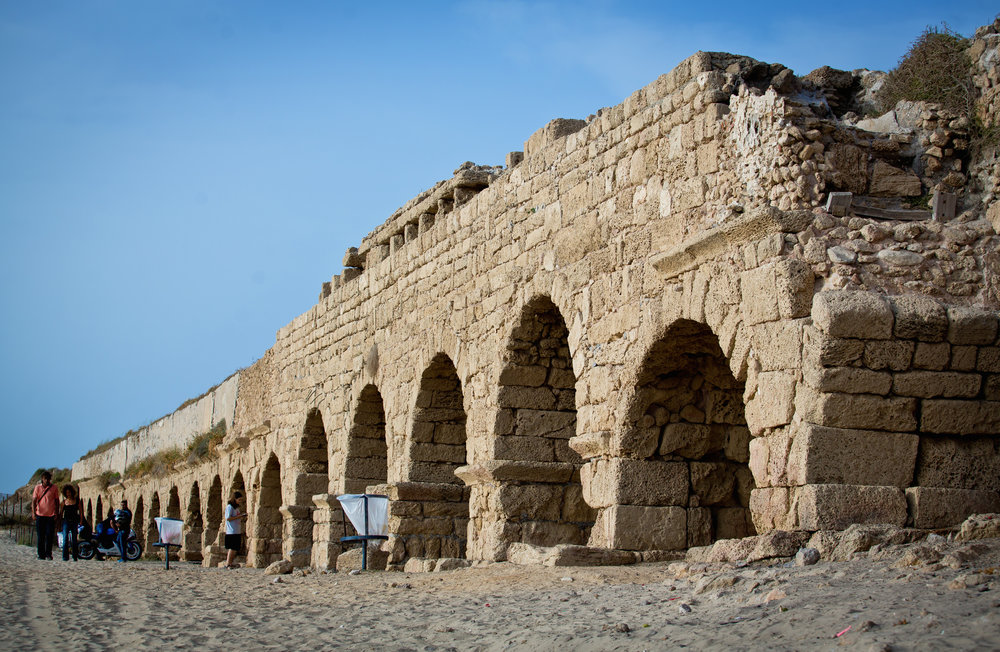 The ruins of the ancient Israeli port city of Caesarea in June 2015. Credit: Moshe Shai/Flash90.