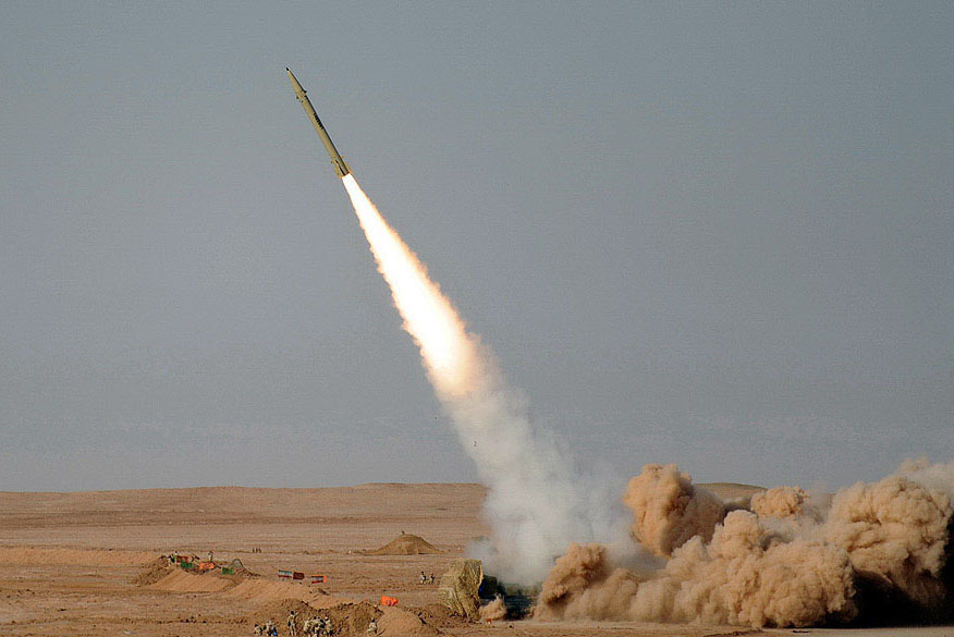 Iran test-fires a Fateh-110 missile in July 2012. Credit: Hosein Velayati via Wikimedia Commons.