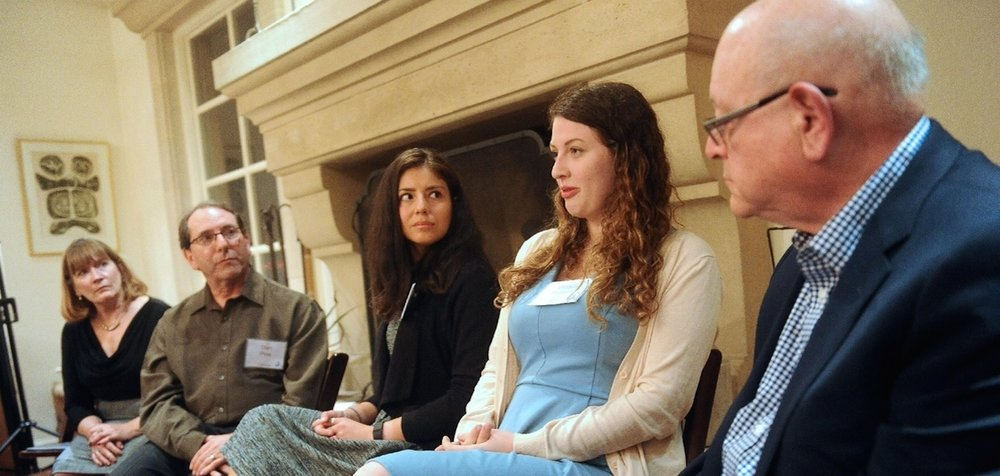 Stanford University alums Miriam Pollock (second from right) and Molly Horwitz (center) claim that Stanford Hillel staffers attempted to thwart efforts to expose campus anti-Semitism. Credit: Courtesy Miriam Pollock.