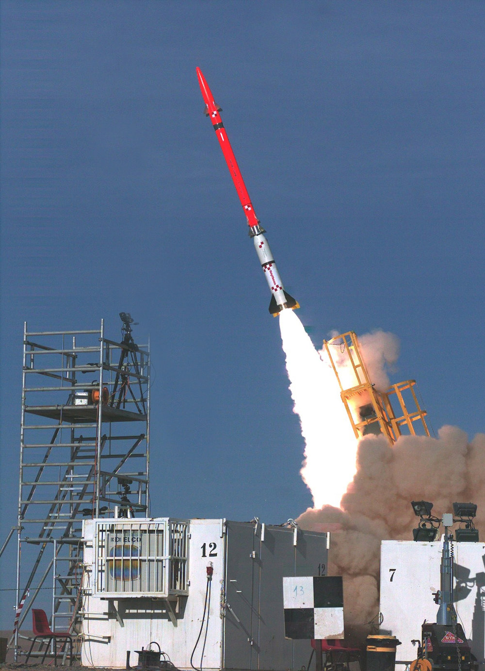 A test of Israel's David's Sling missile defense system in November 2012. Credit: Israeli Ministry of Defense/Flash90.