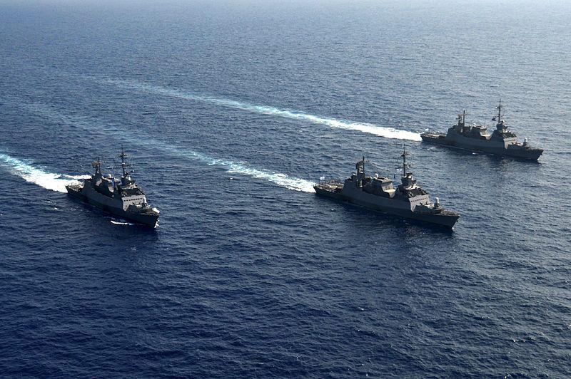 Israeli Saar 5 ships. (Illustrative photo.) Credit: Israel Defense Forces.