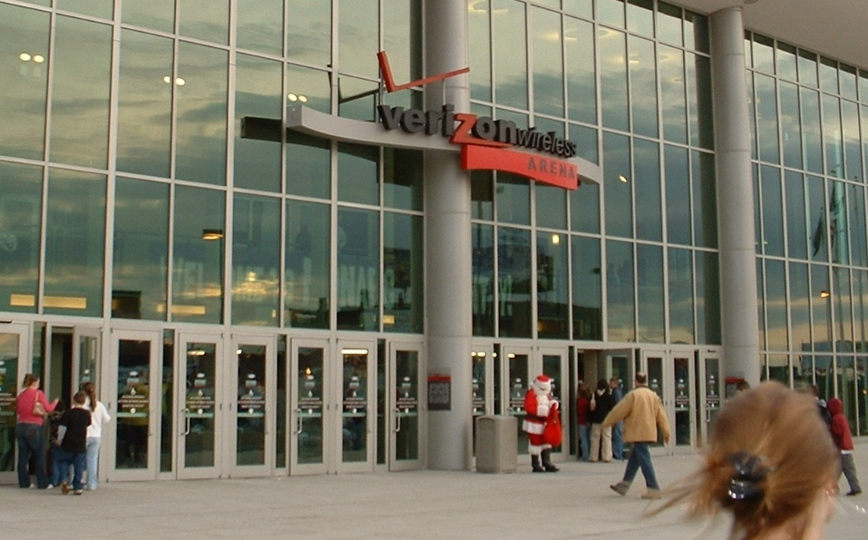 The entrance to the Verizon Wireless Arena in Manchester, N.H. Credit: ToddC4176 via Wikimedia Commons.