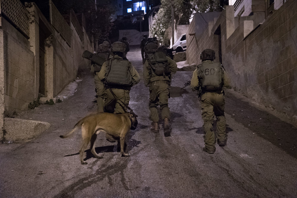 Soldiers from the IDF's Duvdevan, an Arab-speaking elite special forces unit, are pictured during an operation to arrest terror suspects in October 2015. Two undercover Duvdevan soldiers were exposed and detained by Palestinian security forces in Nablus Saturday. Credit: IDF Spokesperson/Flash90.
