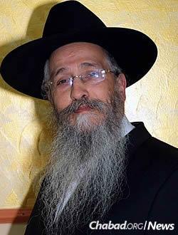 Rabbi Menachem Mendel Deitsch. Credit: Chabad.org/news.