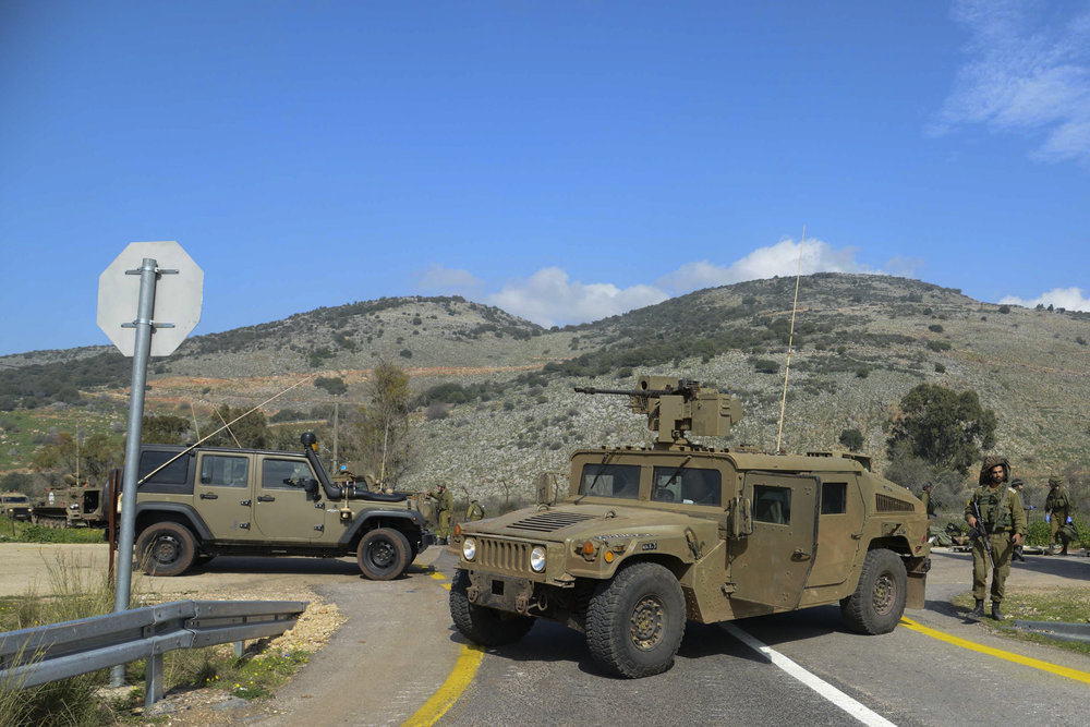 Israeli soldiers came under anti-tank fire from Hezbollah operatives in this northern Mount Dov region along the Israeli border with Lebanon, Jan. 2015. Credit: Basal Awidat/Flash90.