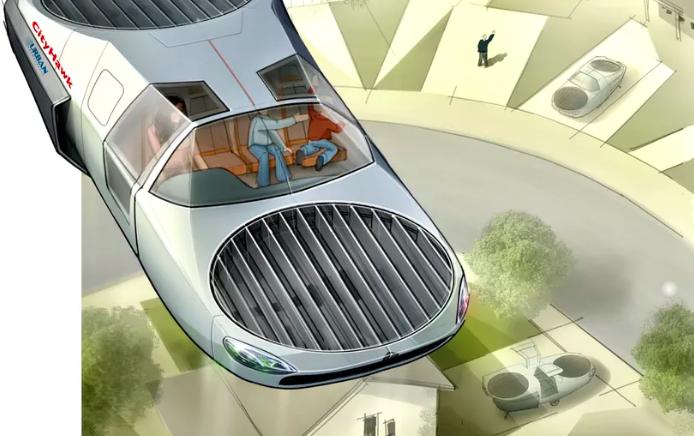 The future CityHawk flying electric car. Credit: Urban Aeronautics.