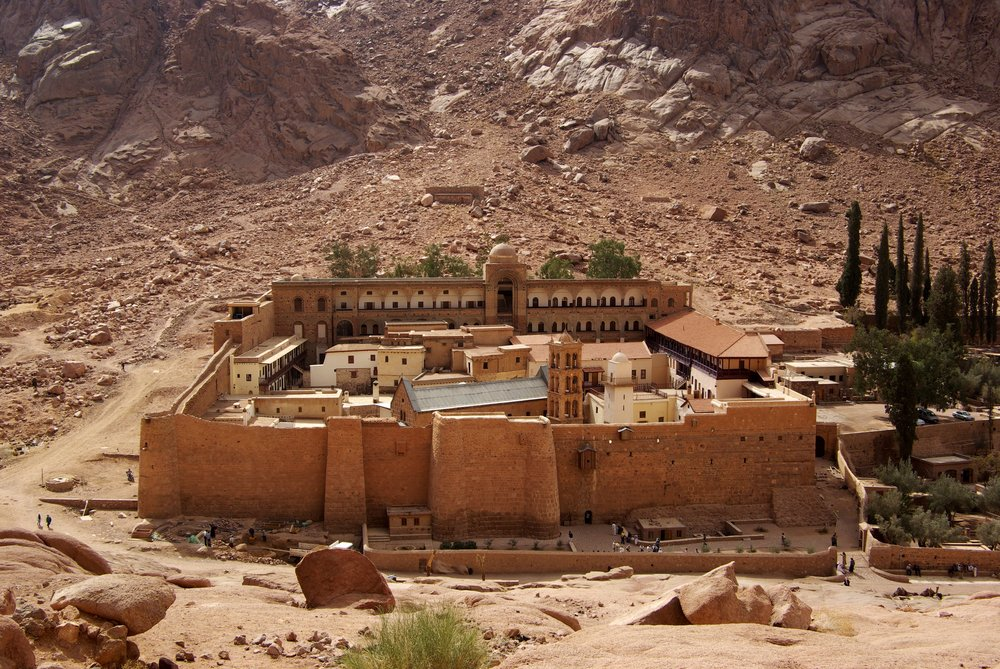 St. Catherine's Monastery in the Egyptian Sinai. Credit: Berthold Werner via Wikimedia Commons.