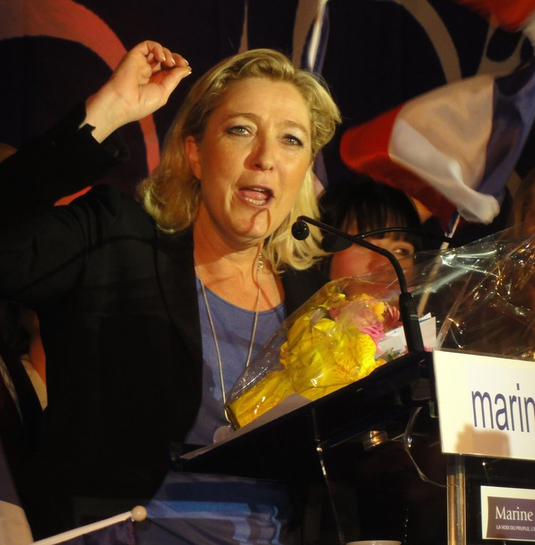 French presidential candidate Marine Le Pen. Credit: JÄNNICK Jérémy via Wikimedia Commons.
