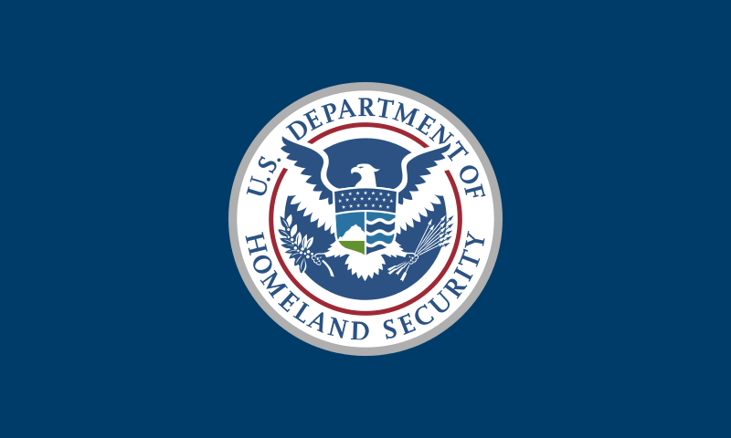 The flag of the Department of Homeland Security (DHS). Credit: DHS.