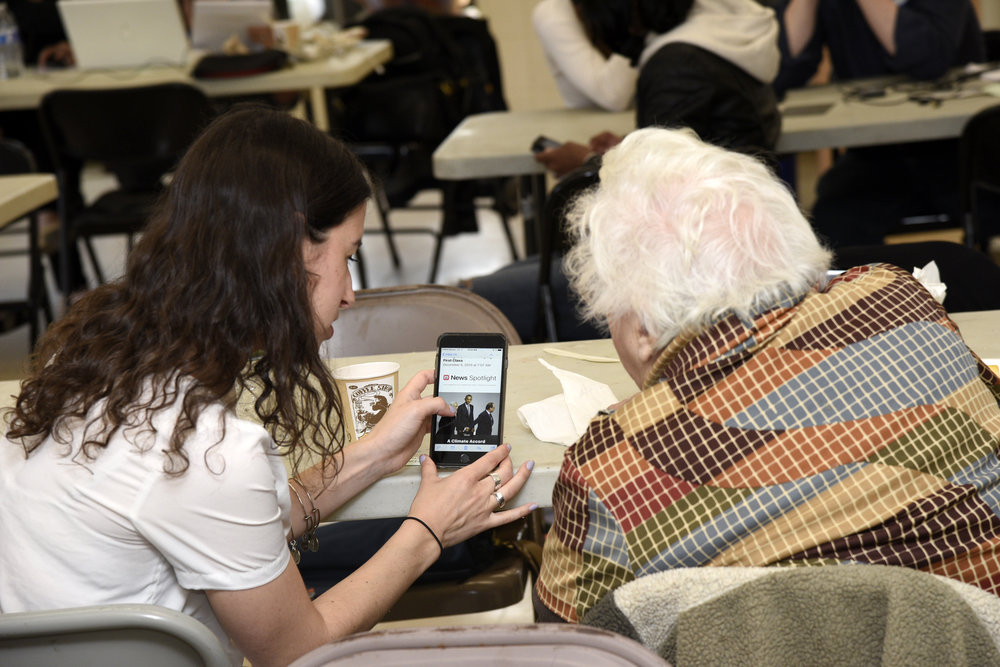 """A picture that is included in """"Smart Money,"""" a newly released study intended to help the Jewish community navigate the high-tech world. Credit: Lewis Kassel, courtesy of Moishe House."""