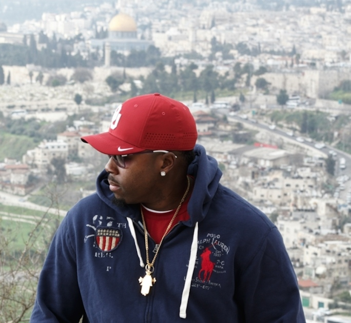 U.S. veteran Malik Swinton in Israel. Credit: Courtesy of Jewish National Fund.