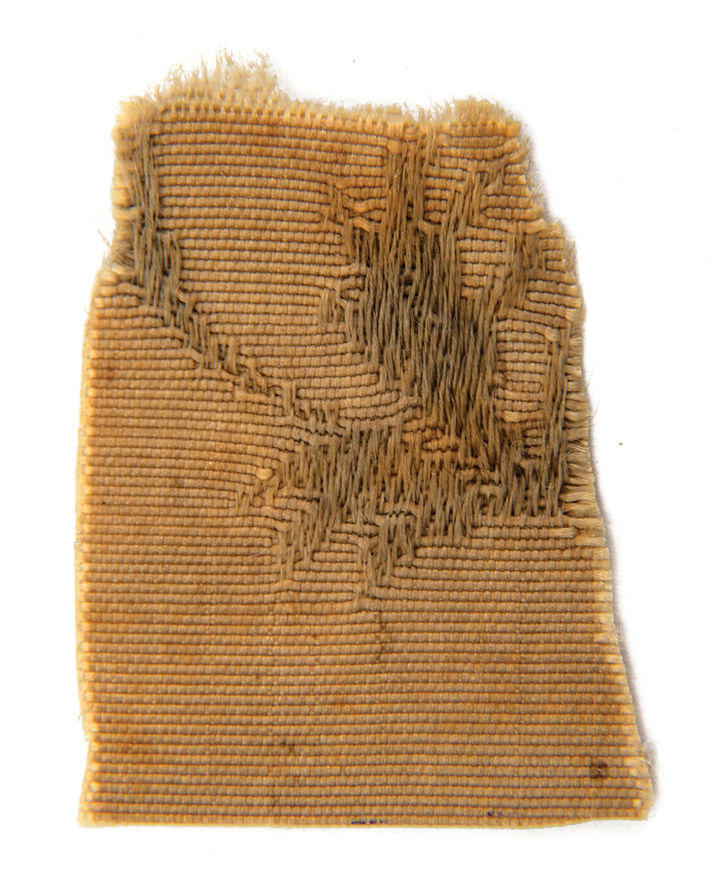 This piece of fabric that was part of a robe worn by Rabbi Yisrael Baal Shem Tov, Hasidic Judaism's founder, will be auctioned off by Kedem Auction House. Credit: Kedem Auction House.