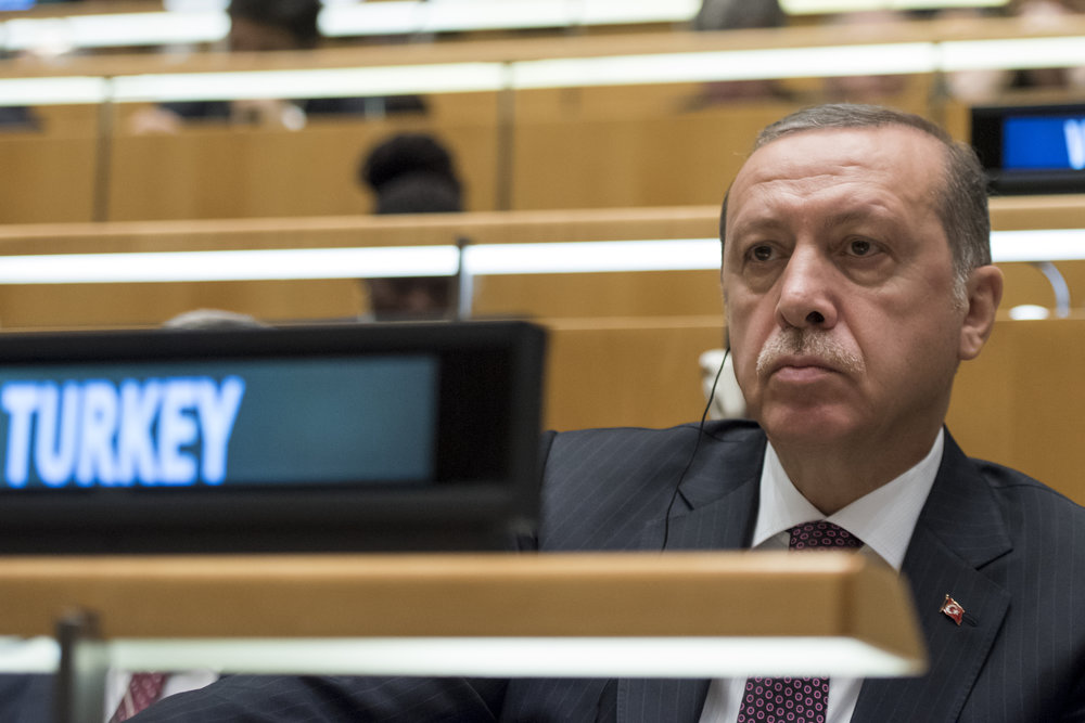 Turkish President Recep Tayyip Erdogan during the general debate of the United Nations General Assembly Sept. 20, 2016. Credit: UN Photo/Cia Pak.