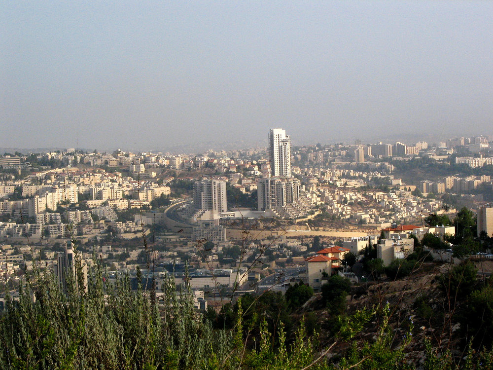 A view of Jerusalem from the neighborhood of Gilo. Credit: Gila Brand via Wikimedia Commons.
